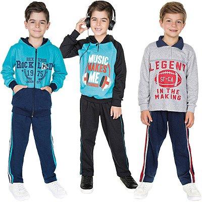Roupa Infantil Menino Kit 3 Conjuntos Calça e Casaco Isensee