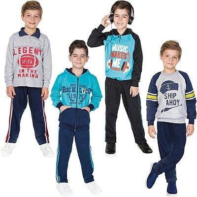 Roupa Infantil Menino Kit 4 Conjuntos de Moletom Isensee