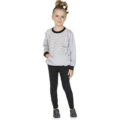 Roupa Infantil Menina Conjunto de Inverno Calça e Casaco