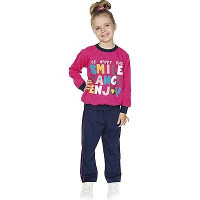 Roupa Infantil Menina Conjunto de Moletom Inverno Smile