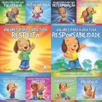 Coleção Com 10 Livros Infantis Valores Para A Vida Toda