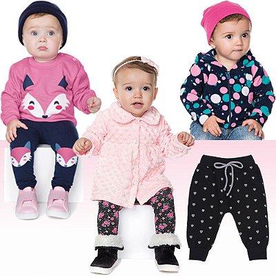 Roupas Bebê Menina Kit 6 Peças Conjunto Jaqueta e Calça