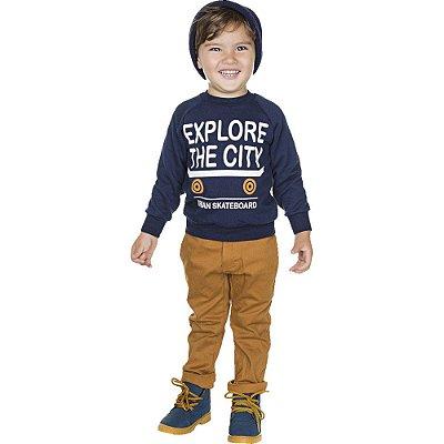 Roupa Infantil Menino Blusão de Moletom Inverno Isensee