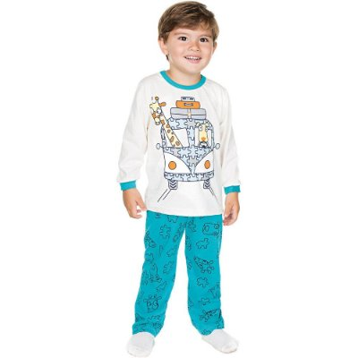 Pijama Infantil Menino Meia Malha Longo de Inverno Isensee