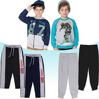 Roupa Infantil Menino Kit 6 Peças Jaqueta Blusão e Calças