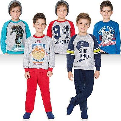 Roupa Infantil Menino Kit 7 Peças Calça e Casaco de Inverno