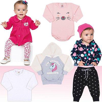 Roupa Bebê Menina Kit 7 Peças Roupinhas de Inverno Isensee