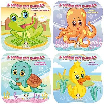 Coleção Livros Infantis A Hora Do Banho 4 Títulos