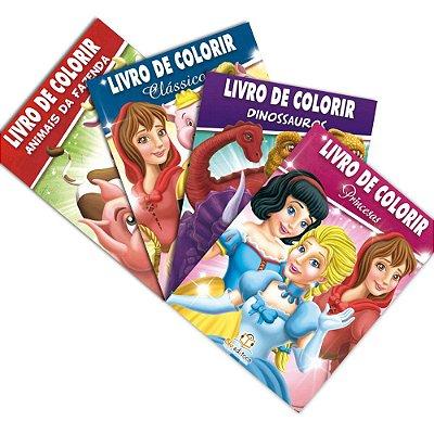 Coleção Livros de Colorir 4 Livros com 80 Paginas Cada