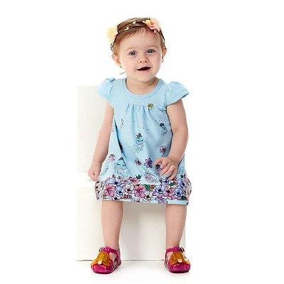 Roupa Bebê Menina Vestido de Verão Malha Jacquard Quizur