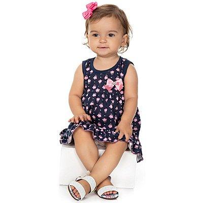 Roupa Bebê Menina Vestido Regata com Laço Verão Isensee