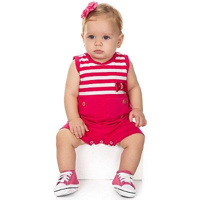 Roupa Bebê Menina Macaquinho de Cotton Curto Verão Isensee