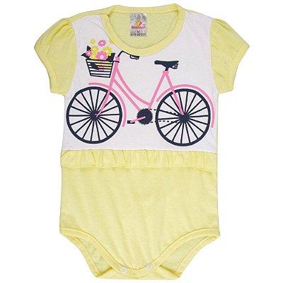 Roupa Bebê Menina Body Curto de Meia Malha Verão Isensee