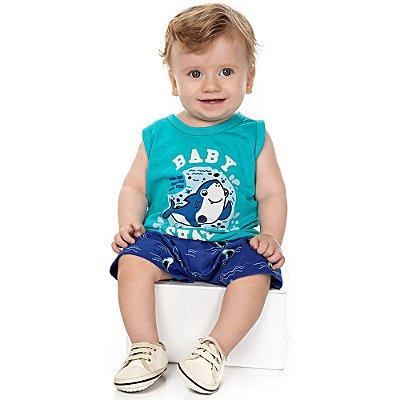 Roupa Bebê Menino Conjunto Camiseta Regata e Bermuda Isensee