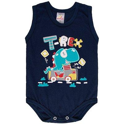 Roupa Bebê Menino Body Regata Verão Isensee T-Rex