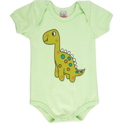 Roupa Bebê Menino Body Curto Gola Americana Isensee Dino