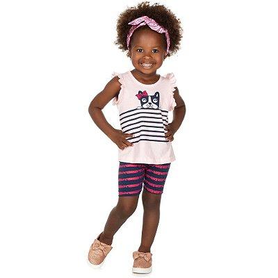 Roupa Bebê Infantil Menina Conjunto Regata e Bermuda Isensee