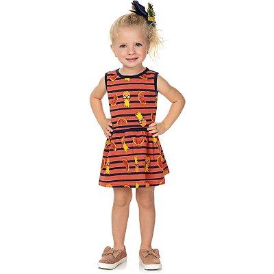 Roupa Bebê Infantil Menina Vestido Regata Estampado Verão