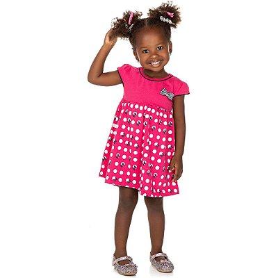 Roupa Bebê Infantil Menina Vestido Curto com Laço Isensee