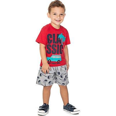 Roupa Bebê Infantil Menino Conjunto Camiseta e Bermuda Surf