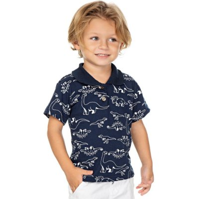 Roupa Bebê Infantil Menino Camiseta Gola Polo Dino Isensee