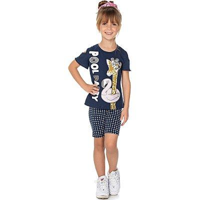 Roupa Infantil Menina Conjunto Ciclista de Cotton Isensee