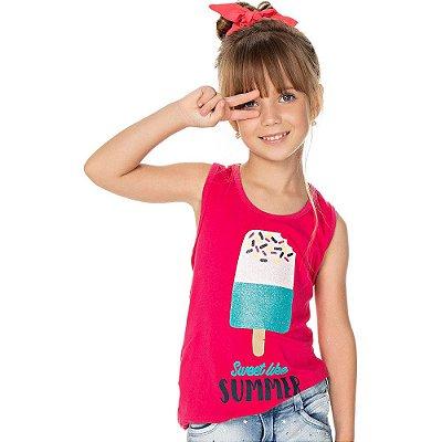 Roupa Infantil Menina Regata de Cotton Isensee