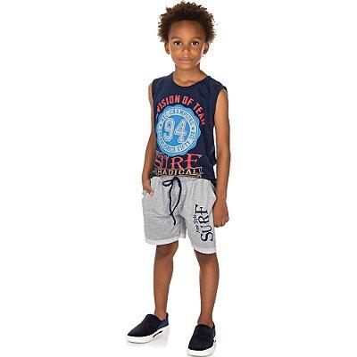 Roupa Infantil Menino Conjunto Camiseta Machão e Bermuda