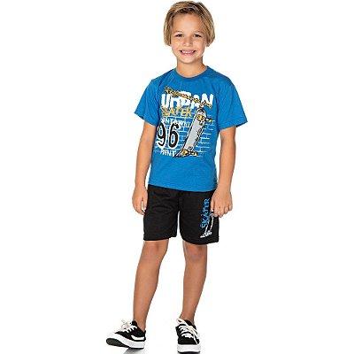 Roupa Infantil Menino Conjunto Camiseta Meia Manga e Bermuda