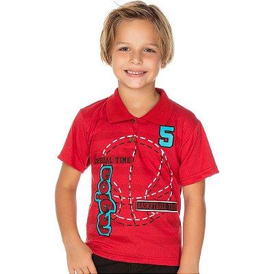 Roupa Infantil Menino Camiseta Gola Polo Basketball Isensee