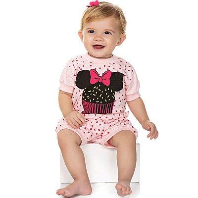 Roupa Bebê Menina Pijama Curto Camiseta Meia Manga e Shorts
