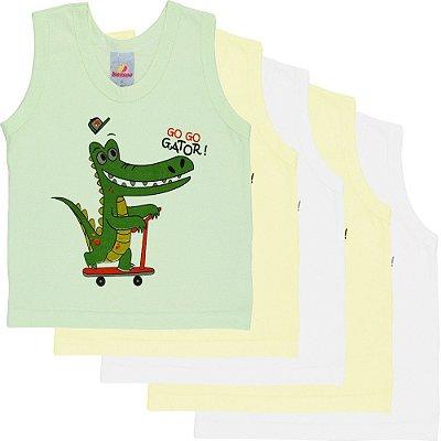 Roupa Bebê Menino Menina Unissex Camiseta Regata 5 Peças PMG