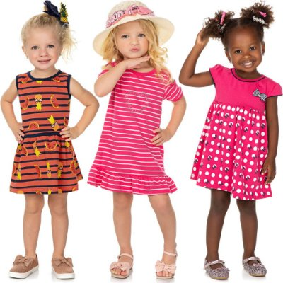 Roupa Bebê Infantil Menina Kit 3 Vestidos Verão Isensee