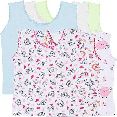 Roupa Bebê Menino Menina Camiseta Regata Kit 6 Peças