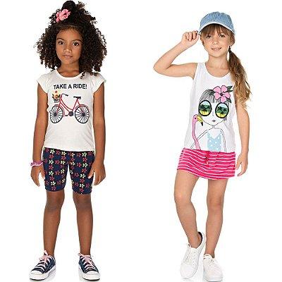 Roupa Infantil Menina Kit 2 Conjuntos de Verão Isensee Ride