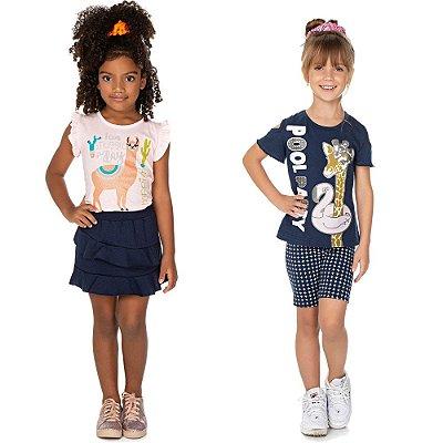 Roupa Infantil Menina Kit 2 Conjuntos Verão Isensee Party