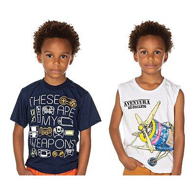 Roupa Infantil Kit 2 Camisetas de Malha Isensee Meninos