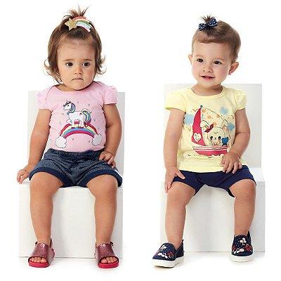 Kit 2 Conjuntos Bebê Menina Blusa Roupinhas de Verão Abrange