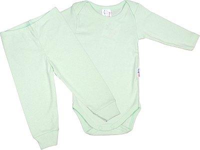 Roupa de Bebê Conjunto Body e Calça Mijão Longo Algodão