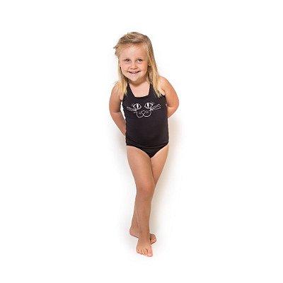 Maiô Infantil Bordado com Proteção UV Moda Praia