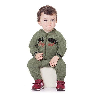 Kit Lote Roupa de Bebê Menino 4 Conjuntos de Moletom