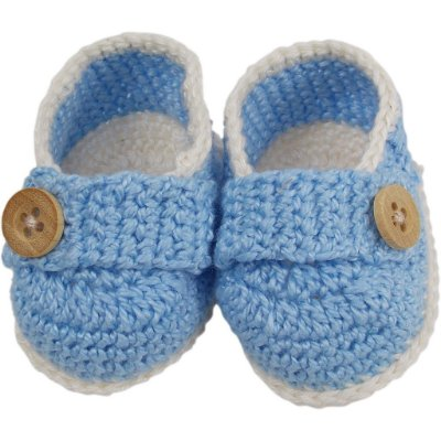 Sapatinho de Crochê Modelo Baby Charme para Menino