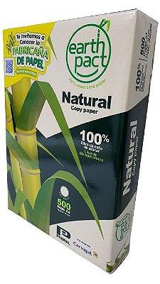 Papel Sulfite A4 Reciclado - Cor Natural - Zero químicos branqueadores -100% bagaço de cana de açúcar cx c/ 10 resmas