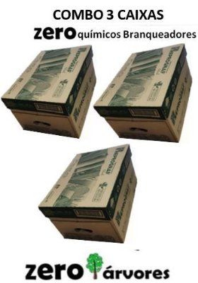 3 Caixas Papel Sulfite A4 Reciclado - Cor Natural - Zero químicos branqueadores -100% bagaço de cana de açúcar cx c/ 10 resmas