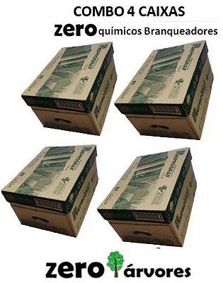 4 Caixas Papel Sulfite A4 Reciclado - Cor Natural - Zero químicos branqueadores -100% bagaço de cana de açúcar cx c/ 10 resmas