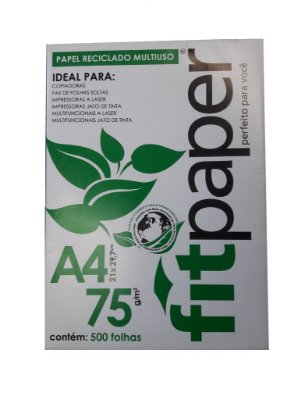 Papel Sulfite A4 Reciclado na Cor Bege Claro 75g - 5 Pacotes com 500 Folhas