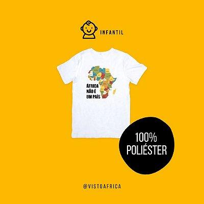 Camiseta Infantil - Mapa Colorido (em poliéster)