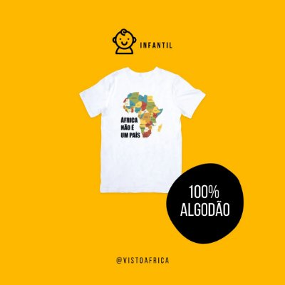 Camiseta Infantil - Mapa Colorido (em algodão)