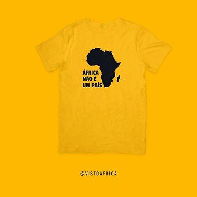 Camiseta Amarela - Idiomas