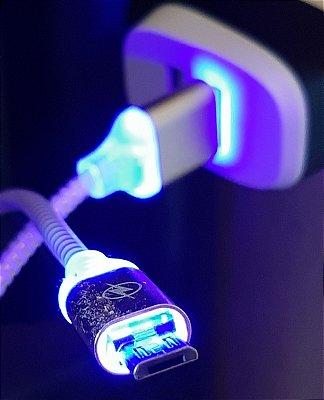 Cabo de Dados Micro USB V8 com LED